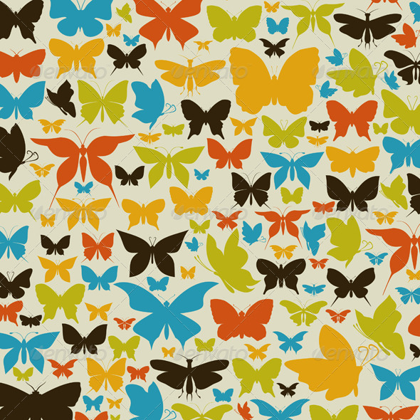 Background the butterfly2 - Animals Characters