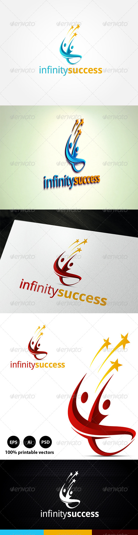 Infinity Success - Humans Logo Templates
