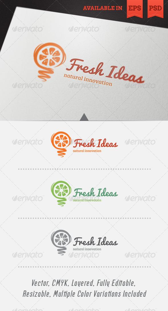 Fresh Ideas Logo Template - Abstract Logo Templates
