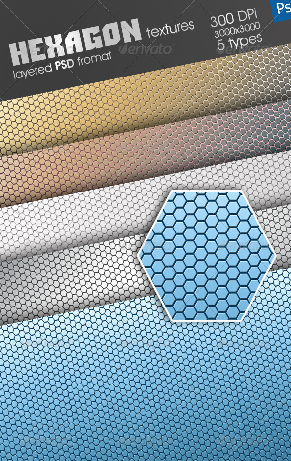 Hexagon Texture - Metal Textures