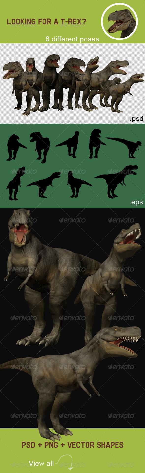 T-Rex Renders - Characters 3D Renders