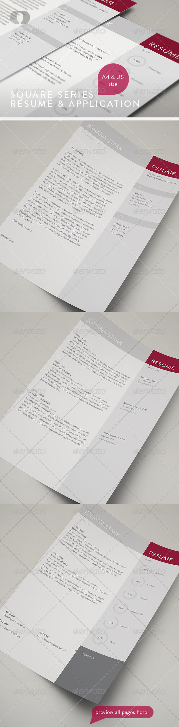Resume Set - Vol.4 - Resumes Stationery