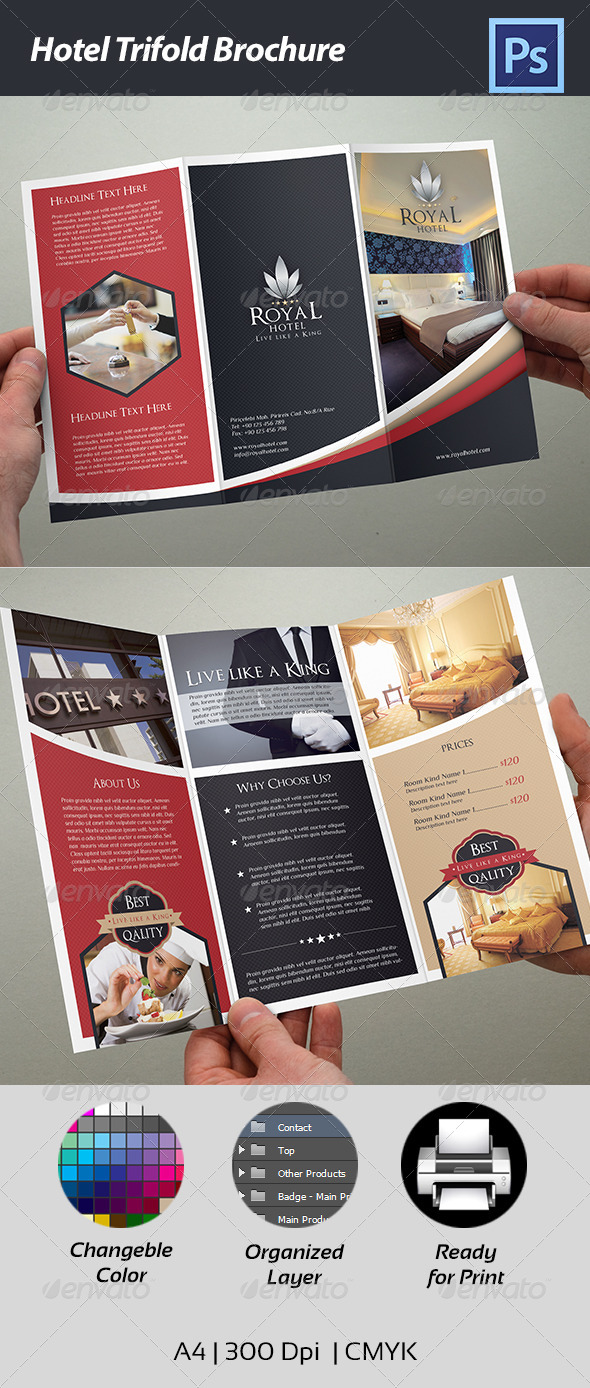 Hotel Trifold Brochure by Cr8iveStudio – Hotel Brochure Template