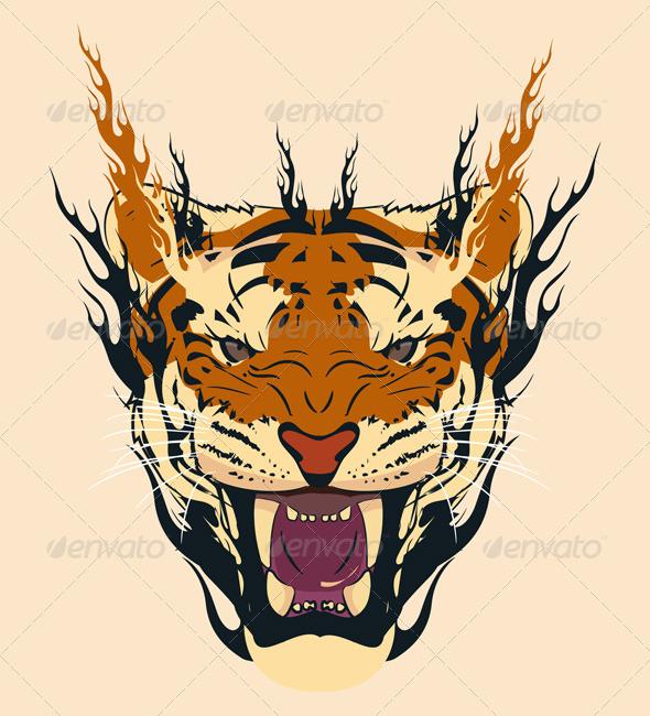 Tiger Face - Characters Vectors