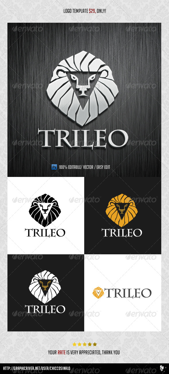 TriLeo Logo Template - Animals Logo Templates