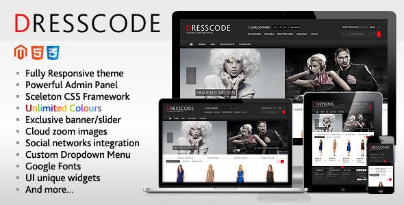 Dresscode - Responsive Magento Theme - Fashion Magento