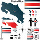 Costa Rica Map - GraphicRiver Item for Sale