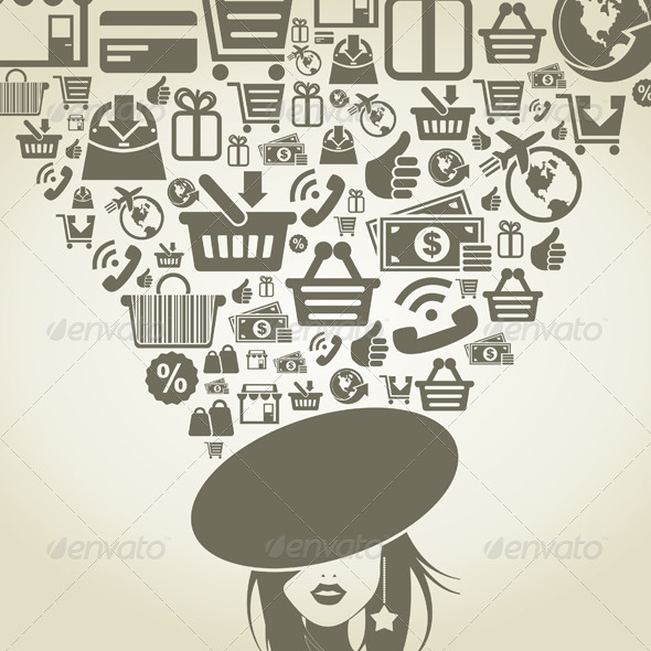 Girl Shop - People Characters