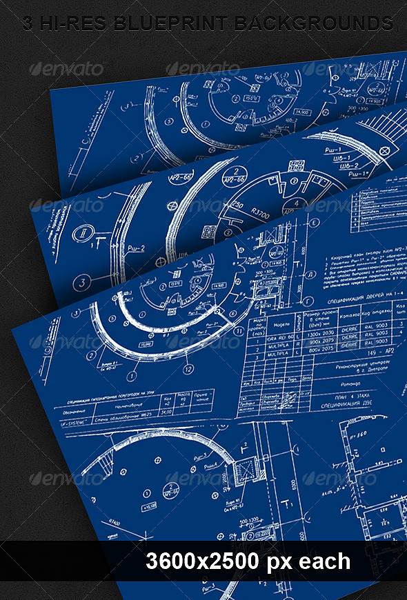 3 Blueprint Backgrounds - Backgrounds Graphics