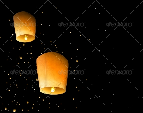 Sky Lanterns - Miscellaneous Seasons/Holidays