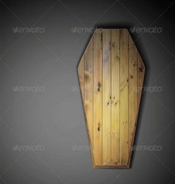 Wooden Coffin - Halloween Seasons/Holidays