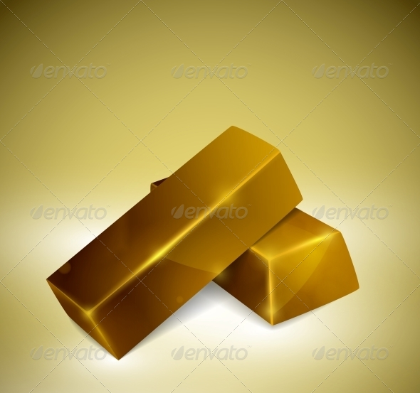 Gold Bars - Man-made Objects Objects
