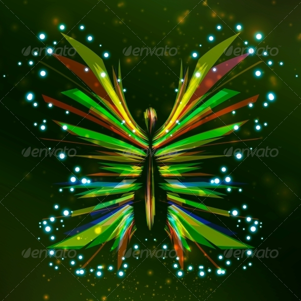 Shiny Butterfly Abstract - Animals Characters