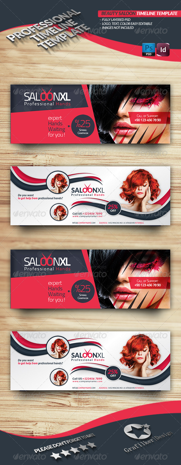 Beauty Saloon Timeline Template - Facebook Timeline Covers Social Media