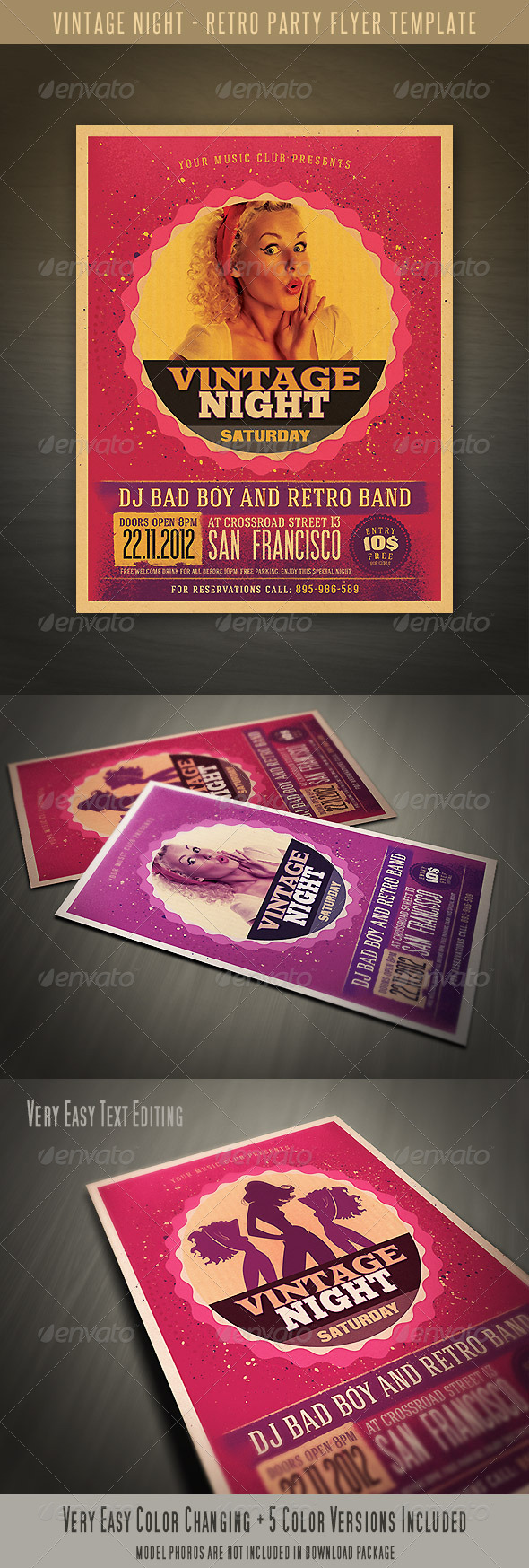 Retro Style Party Flyer - Events Flyers
