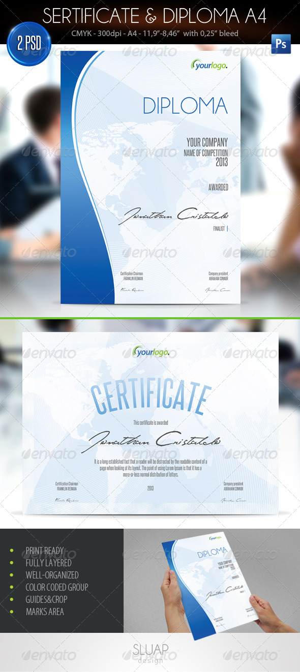 Sertificate & Diploma A4 - Certificates Stationery