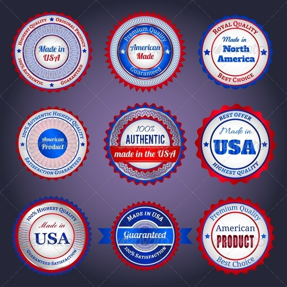 Labels and Stickers on Made in the USA - Retail Commercial / Shopping