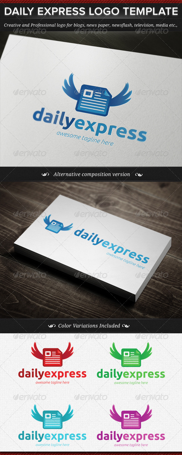 Daily Express News Logo Template - Objects Logo Templates