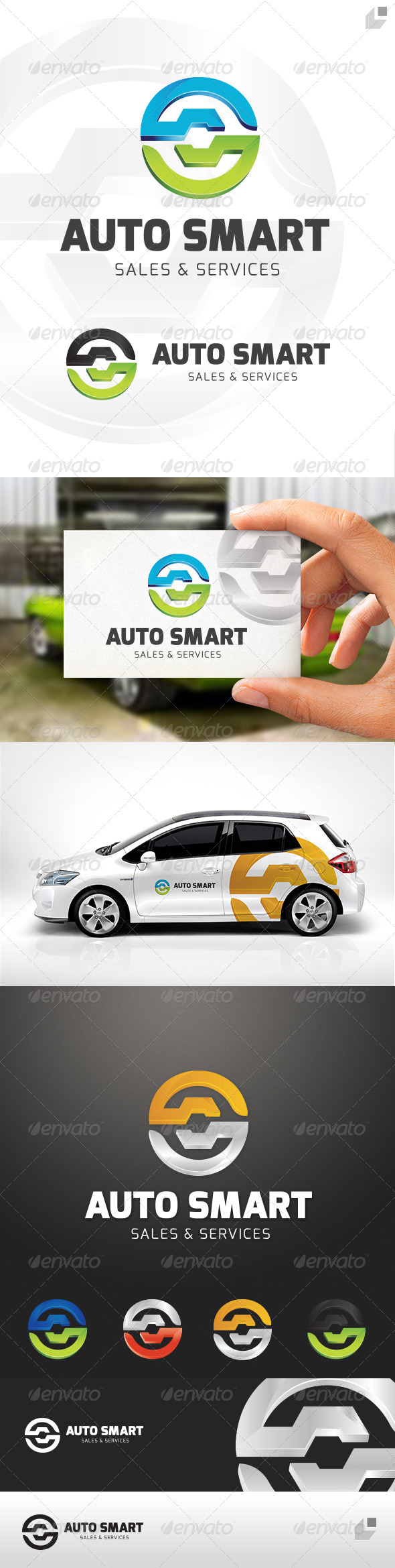 Auto Smart Logo - 3d Abstract