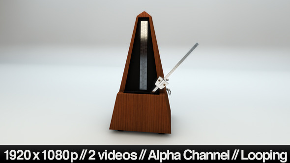 Isolated Metronome Music Timer Looping With Alpha by butlerm | VideoHive