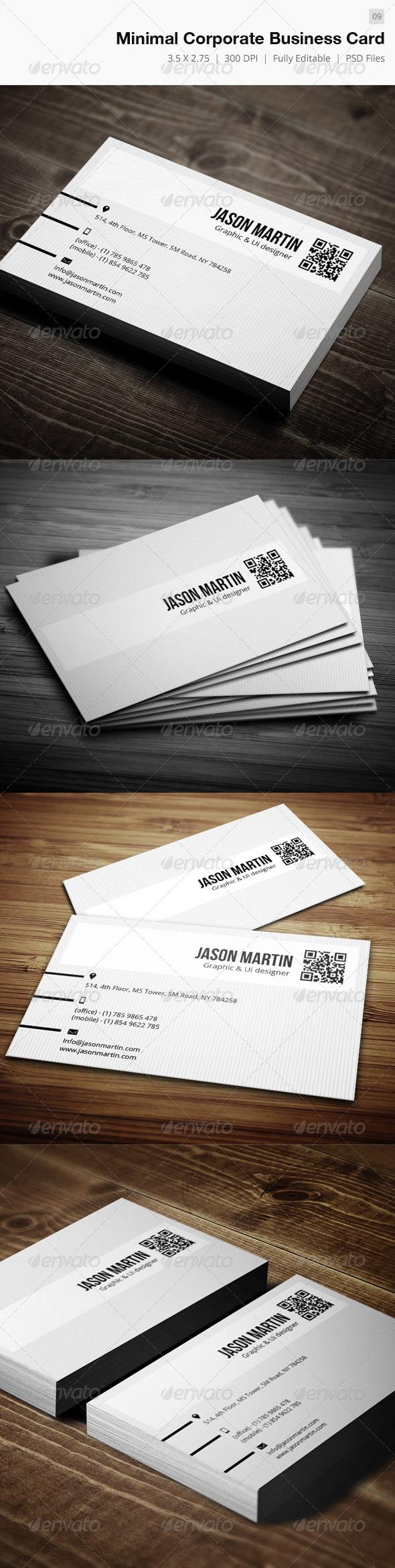 Corporate Minimal Business Card - 09 - Corporate Business Cards
