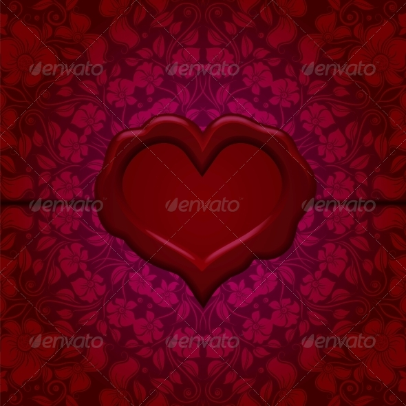 Template for Greeting Card  - Valentines Seasons/Holidays