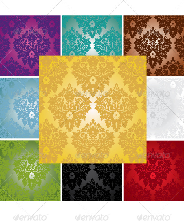Damask Seamless Pattern    - Backgrounds Decorative