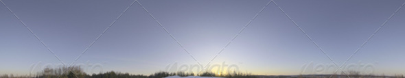 Skydome HDRI - Clear Winter Sky - 3DOcean Item for Sale