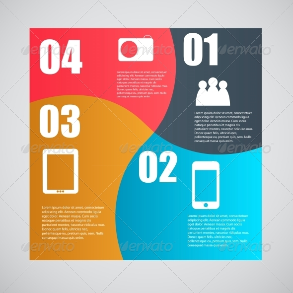 Infographic Template Illustration - Web Technology