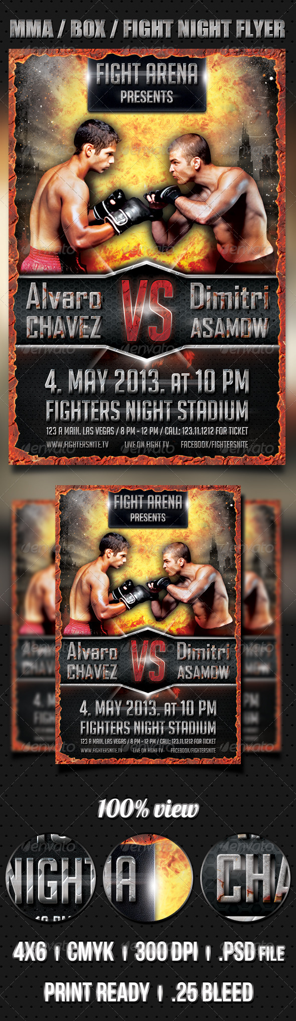 MMA / BOX / Fight Night flyer - Sports Events