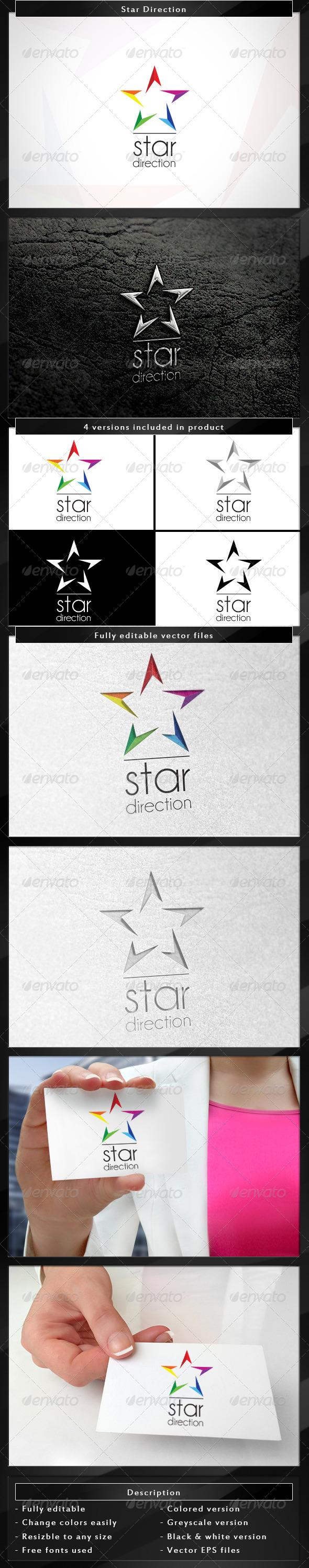 Star Direction - Symbols Logo Templates