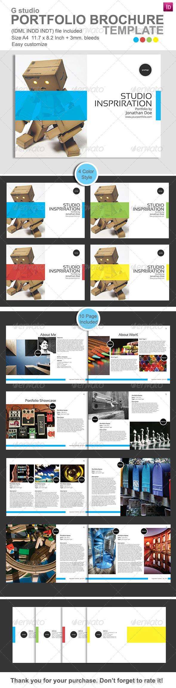 Gstudio Portfolio Brochure Template - Portfolio Brochures