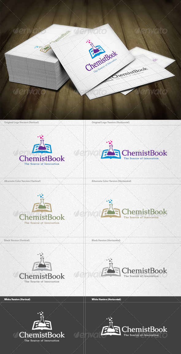 Chemistry Book Logo - Objects Logo Templates