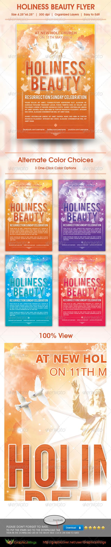 Holiness Beauty Church Flyer Template - Church Flyers