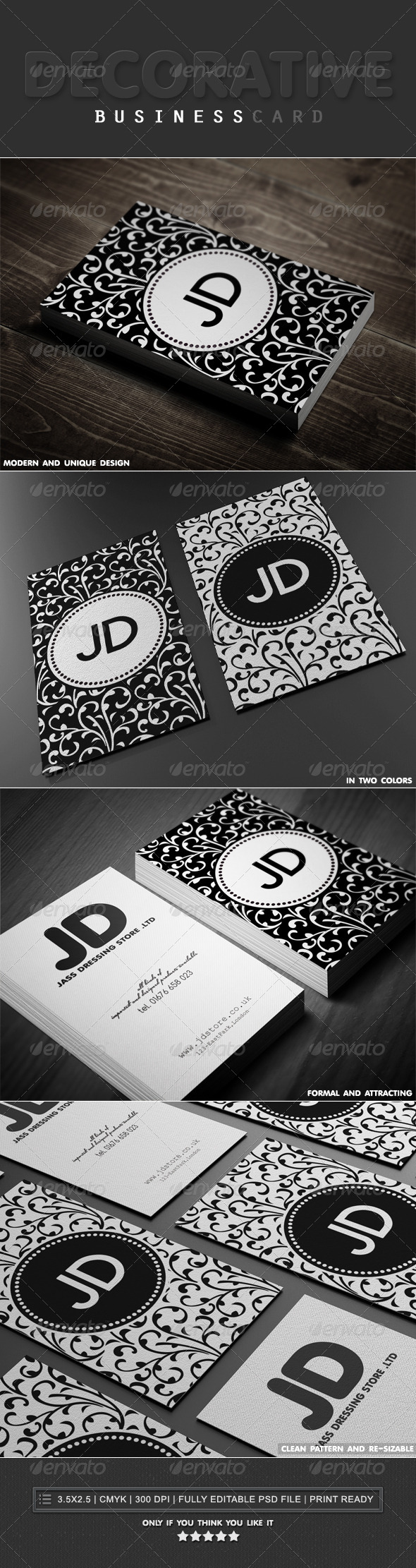 Decorative Business Cards - Creative Business Cards