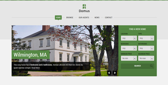 Domus - Responsive Real Estate - Business Corporate