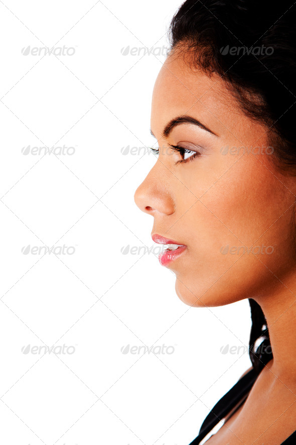 Side of beautiful face - Stock Photo - Images