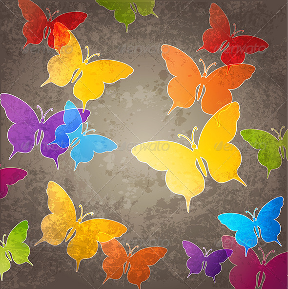 Abstract Background with Butterfly - Backgrounds Decorative