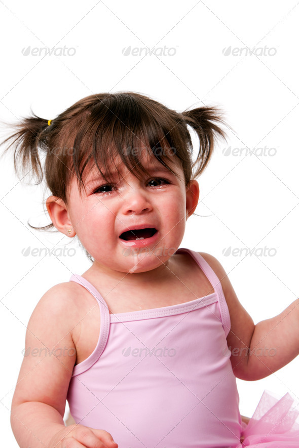 Cranky Crying Toddler - Stock Photo - Images