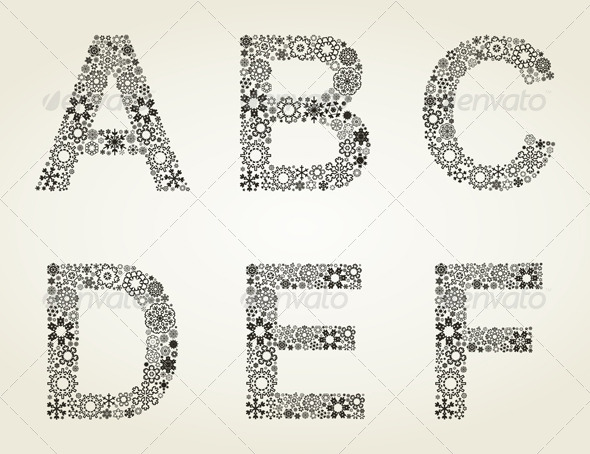Snow the Alphabet - Miscellaneous Vectors