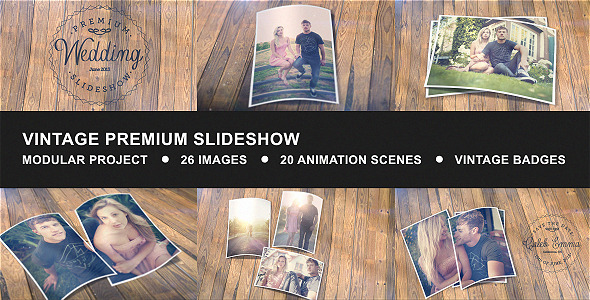 vintage premium slideshowplacdarms | videohive, Presentation templates
