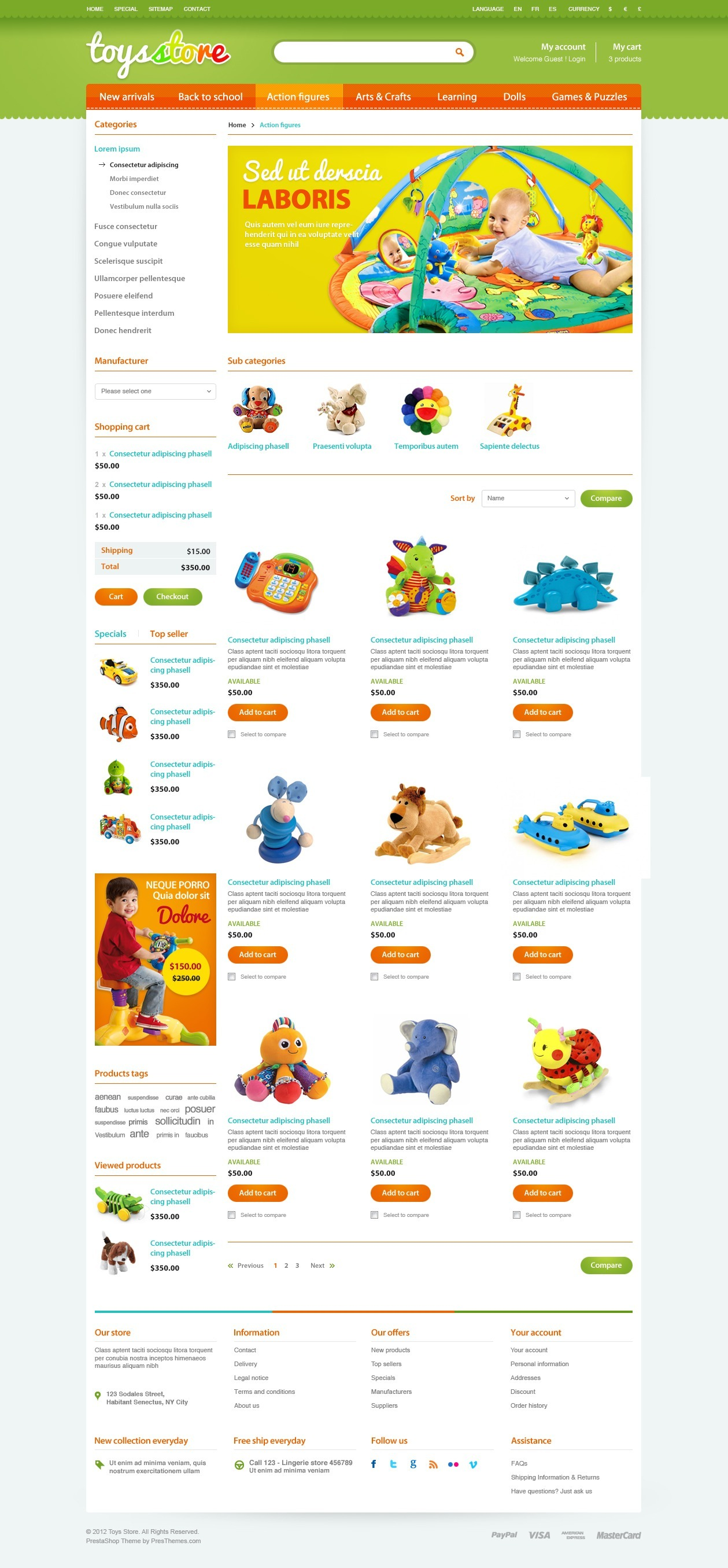 Et Toys Store Prestashop Template By Tvlgiao Themeforest