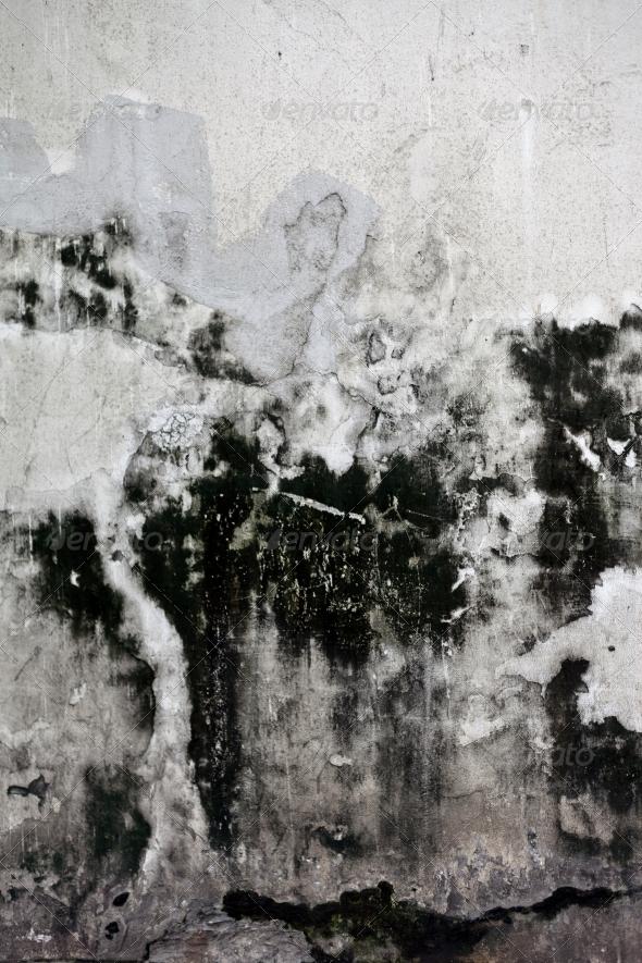 Grunge cracked concrete wall - Concrete Textures