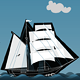 Navigation; Ship on the Ocean  - GraphicRiver Item for Sale