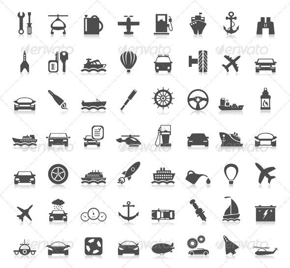 Transport Icons 6 - Miscellaneous Vectors
