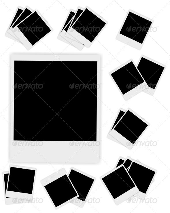 Blank Instant Photos Vector Illustration - Miscellaneous Vectors