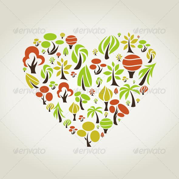 Tree Heart - Valentines Seasons/Holidays