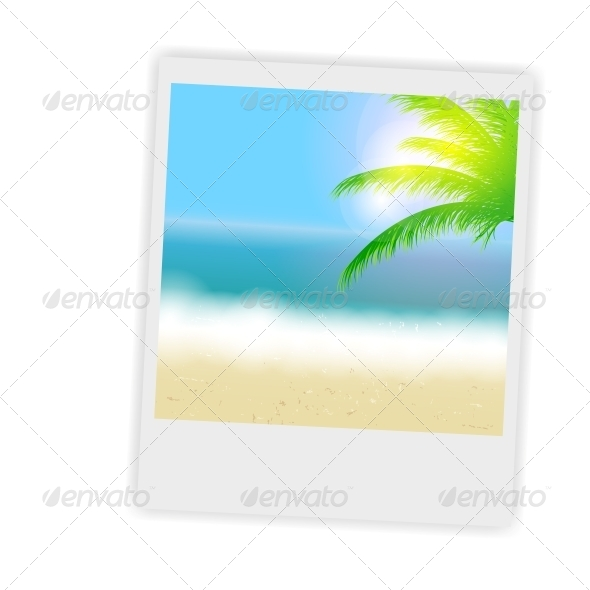 Beautiful Summer Background with Instant Photos - Landscapes Nature