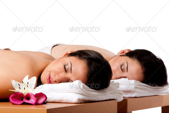 Women ready for spa massge - Stock Photo - Images