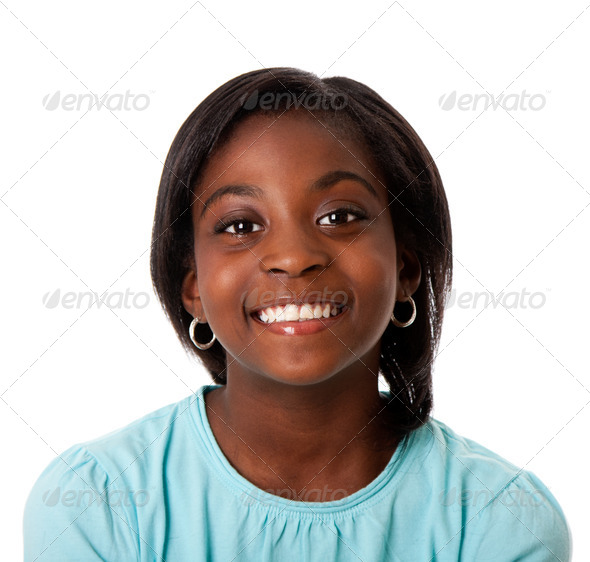 Happy teenager smiling - Stock Photo - Images